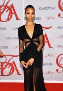 Zoe Saldana - CFDA Fashion Awards in New York 06/04/12