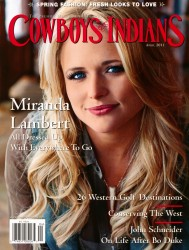 Miranda Lambert x5 Cowboys & Indians April, 2011
